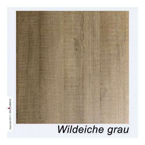 Tischplatte Melamin Wildeiche grau - 1