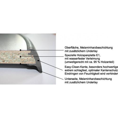 SEVELIT® Tischplatte Dekor Metallgrau - 1