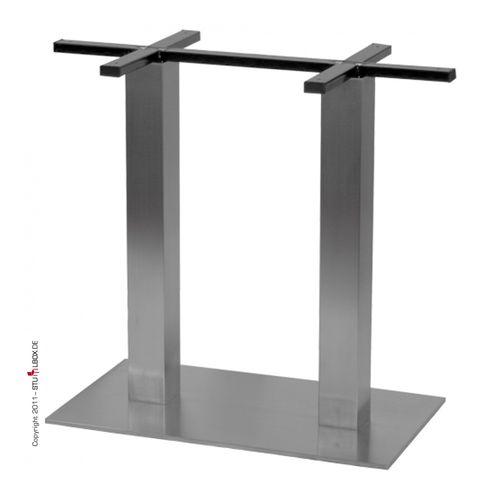 Doppeltischgestell Edelstahl - 1