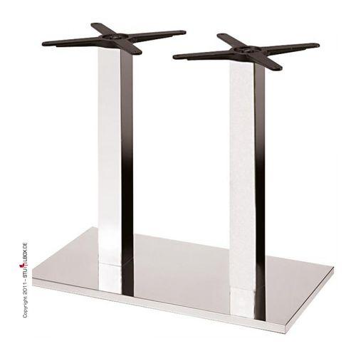 Doppeltischgestell Chrom - 1