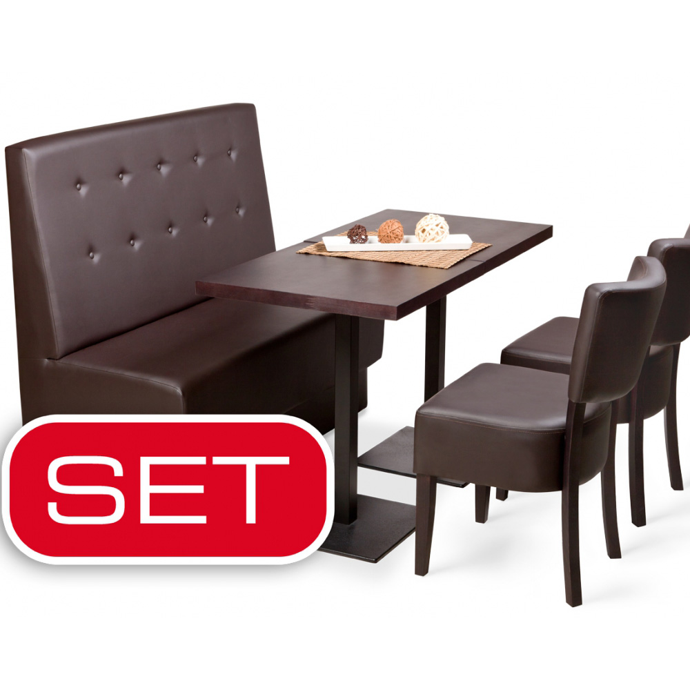 gastronomieeinrichtung set gastro bank st hle tische m bel neu ebay. Black Bedroom Furniture Sets. Home Design Ideas
