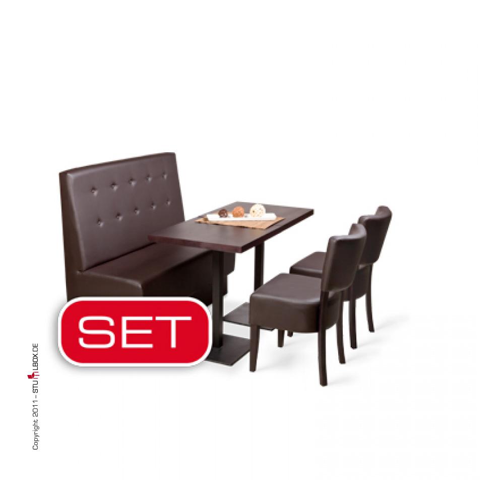 gastronomieeinrichtung set gastro bank st hle tische m bel neu ebay. Black Bedroom Furniture Sets. Home Design Ideas